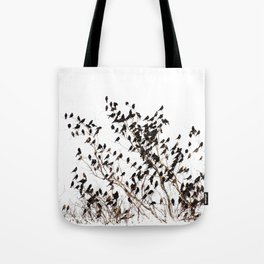 Settling Birds On a Tree  Tote Bag