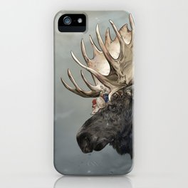Eerik the Sami Shaman and Hirvi the Moose iPhone Case