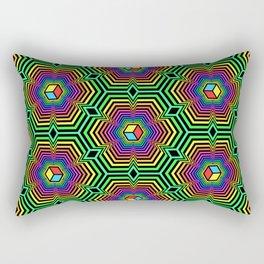 """Hexacube"", by Brock Springstead Rectangular Pillow"