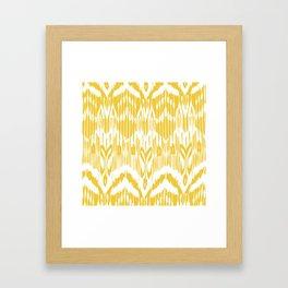 Ikat Waves Framed Art Print