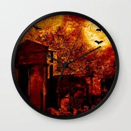 Creepy cemetery Wall Clock