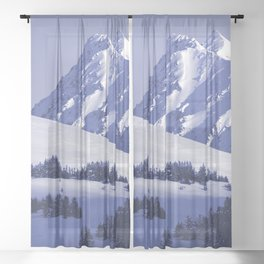 Back-Country Skiing - 8 Sheer Curtain