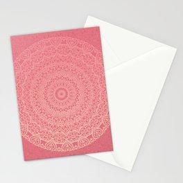 Pink Boho Mandal Stationery Cards