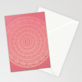 Pink Boho Mandal Stationery Cards