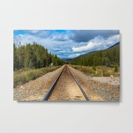 Railway to the sky Metal Print