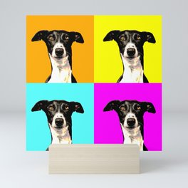 Pop art greyhound Mini Art Print