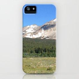Watercolor Landscape, Indian Peaks 01, Colorado iPhone Case