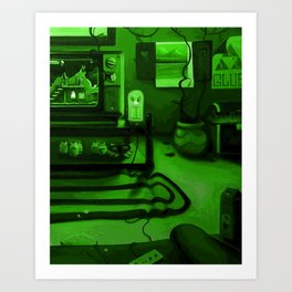 Link's gaming room - Only true gamers know Art Print