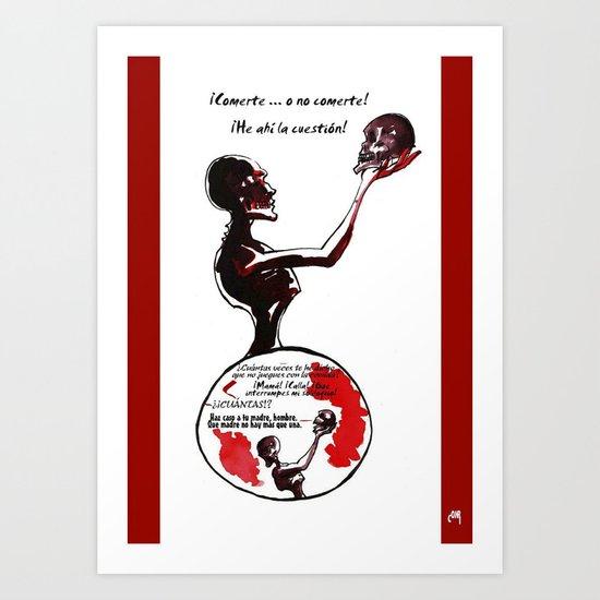 Zombieloquy Art Print