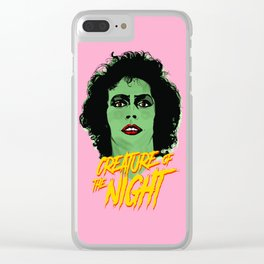 Creature of the night -The Rocky Horror Picture Show Clear iPhone Case