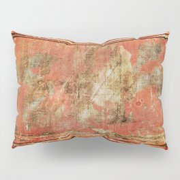 Red Panel Pillow Sham