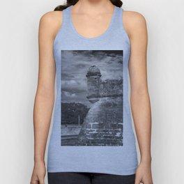 Castillo de San Marcos - black and white Unisex Tank Top