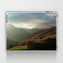 Beautiful autumn sunset near the Monti San Vicino and Canfaito park, Italy Laptop & iPad Skin