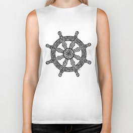 Zentangle - Dharma Wheel  Biker Tank