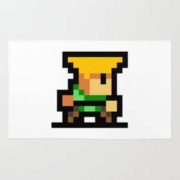 Minimalistic Guile - Pixel Art Rug