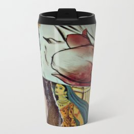 Blue Veil Metal Travel Mug