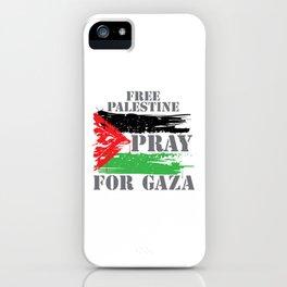 VINTAGE FREE PALESTINE iPhone Case