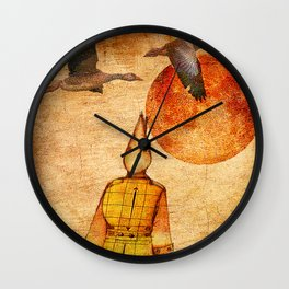 wild goose and Victor Wall Clock