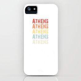 Retro Vintage Athens design Greece Greek design Love iPhone Case
