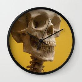 A human skull Wall Clock