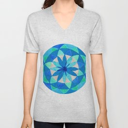 Morning's Last Star Mandala Unisex V-Neck