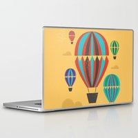 hot air balloons Laptop & iPad Skins featuring Hot Air Balloons by Marina Design