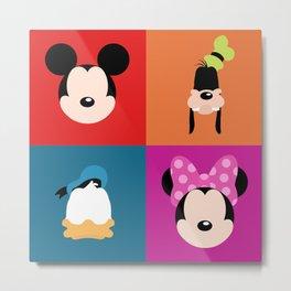 Mickey and the Gang Metal Print