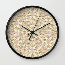 Gilded Tissue Anthemion Wall Clock