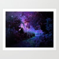 fantasy Art Prints featuring Fantasy Path Purple by 2sweet4words Designs