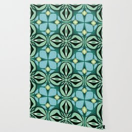 Mossy Green Celtic Boho Cross Wallpaper