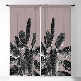 Black Mauve Cactus #1 #plant #decor #art #society6 Blackout Curtain