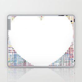 The System - large heart Laptop & iPad Skin