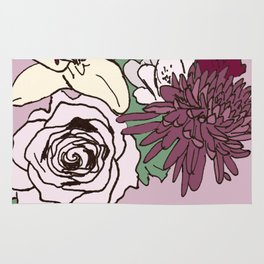 Flowers From The Universe Rug