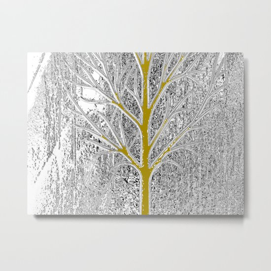 Let it snow! Tree in a beautiful winter snowy day Metal Print