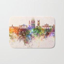 Cork skyline in watercolor background Bath Mat