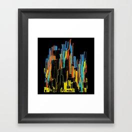 strippy city Framed Art Print