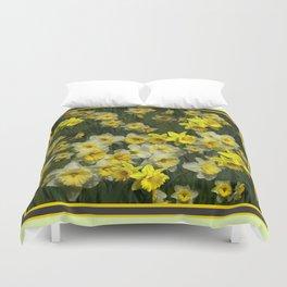 yellow  Daffodils Garden  Scene Art Duvet Cover
