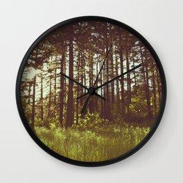 Summer Forest Sunlight - Nature Photography Wall Clock