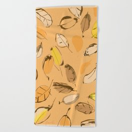 Arbutus leaves Beach Towel