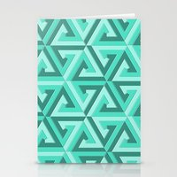 lv Stationery Cards featuring Geometrix LV by Harvey Warwick