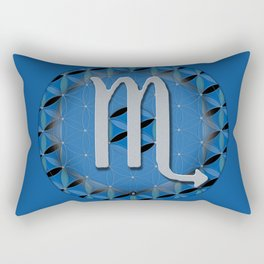 Flower of Life SCORPIO Astrology Design Rectangular Pillow