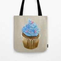 "cupcake Tote Bags featuring ""Cupcake"" by Allana Vazquez"