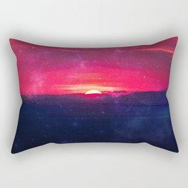 End of Adventure - sunset red dawn Rectangular Pillow