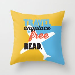 Travel - Just Read Throw Pillow