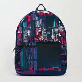 Cyberpunk Tokyo Street Backpack
