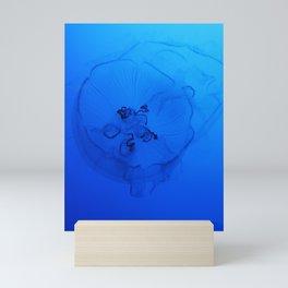 A Sea Nettle in the Deep Ocean Mini Art Print