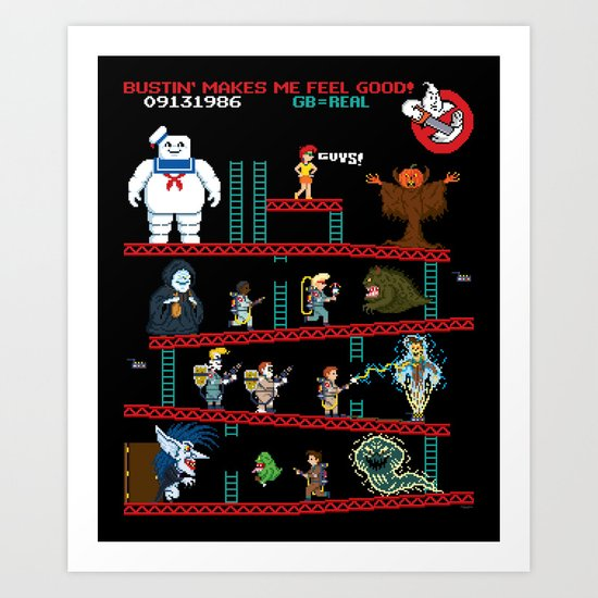The Real Donkey Puft Art Print