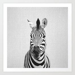 Zebra - Black & White Art Print