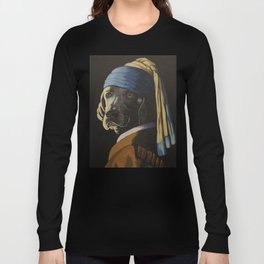 WEIMARANER WITH PEARL EARRING Long Sleeve T-shirt