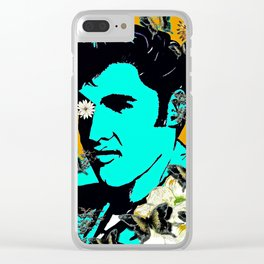 Flowers For The King of Rock and Roll Clear iPhone Case